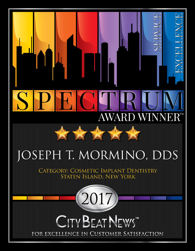 Five-Star 2017 City Beat News Award Winner, Joseph Mormino D.D.S Award Certificate
