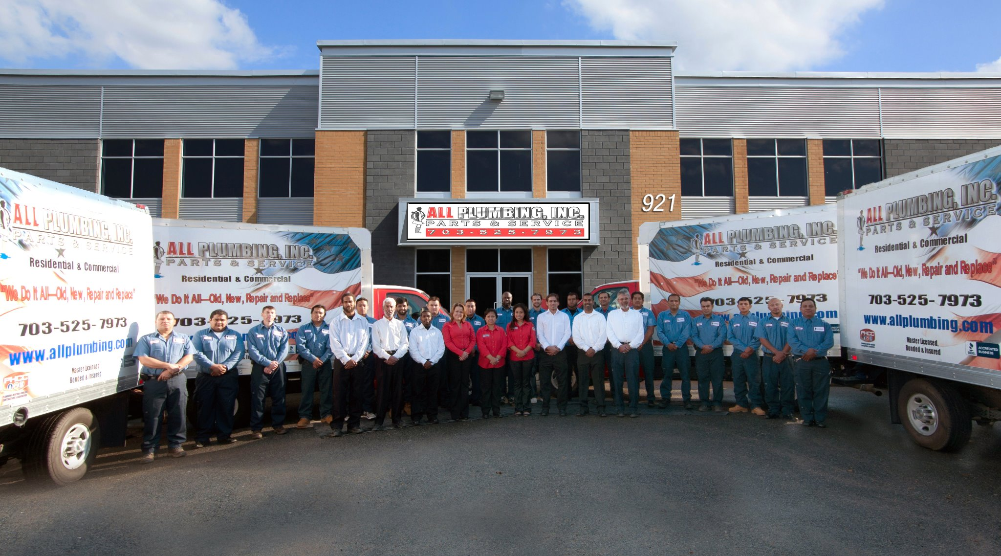 Accountability Over Decades Wins All Plumbing, Inc. Customer Service Award Year-Over-Year