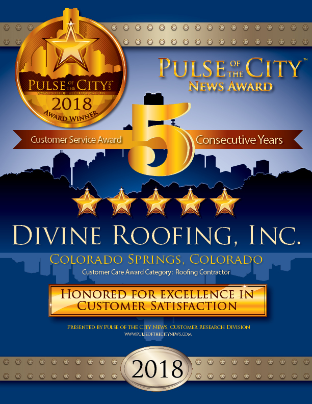 Divine Roofing - PULSE OF THE CITY NEWS Star Award, 5 Consecutive Years