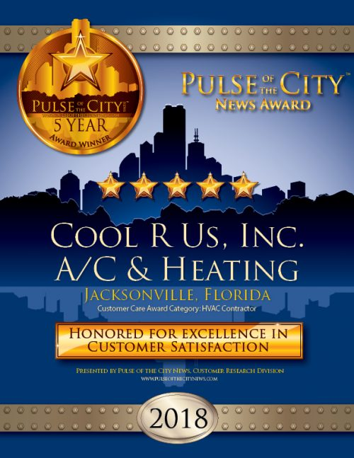 Cool R Us Pulse of the City News Award Certificate