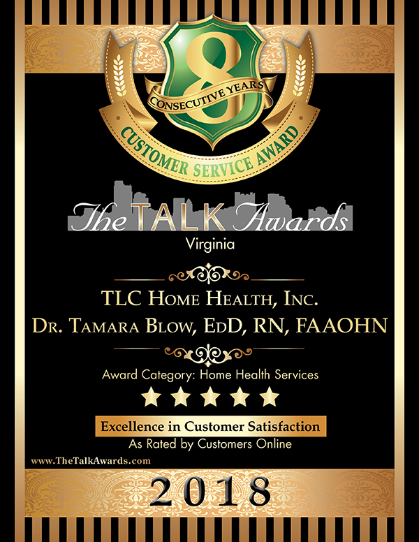 TLC Home Health Inc, 2018 Talk Awards Winner