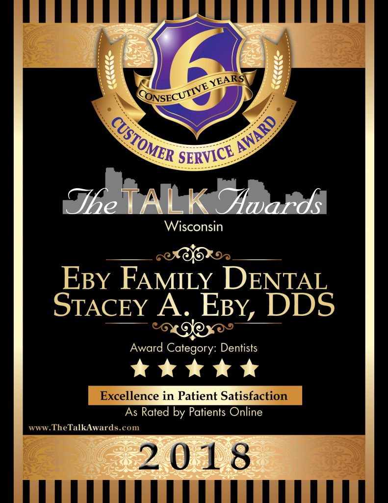 Eby Family Dental 2018 Talk Award Winner
