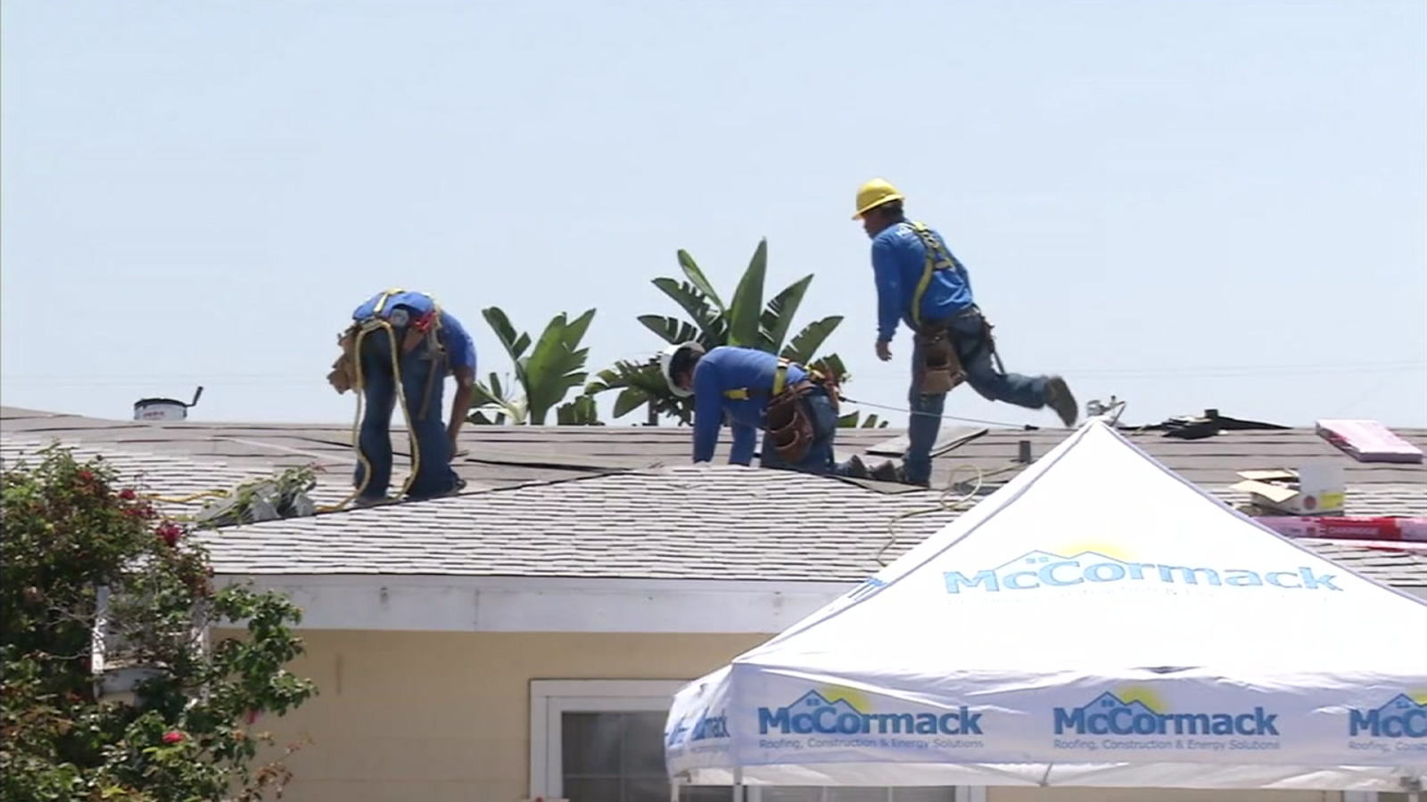 McCormack Roofing workers