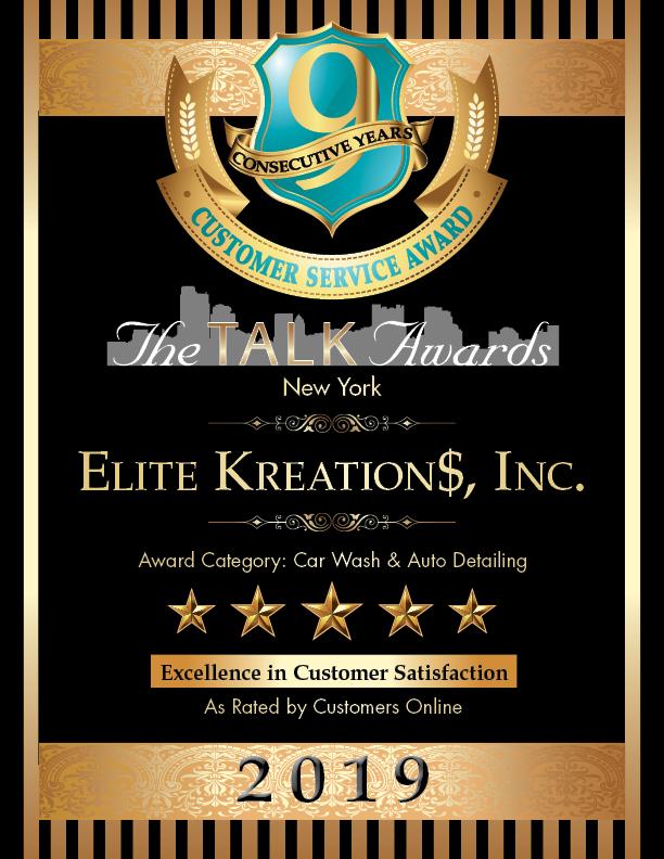 2019 Talk Award Winner, Elite Kreation$