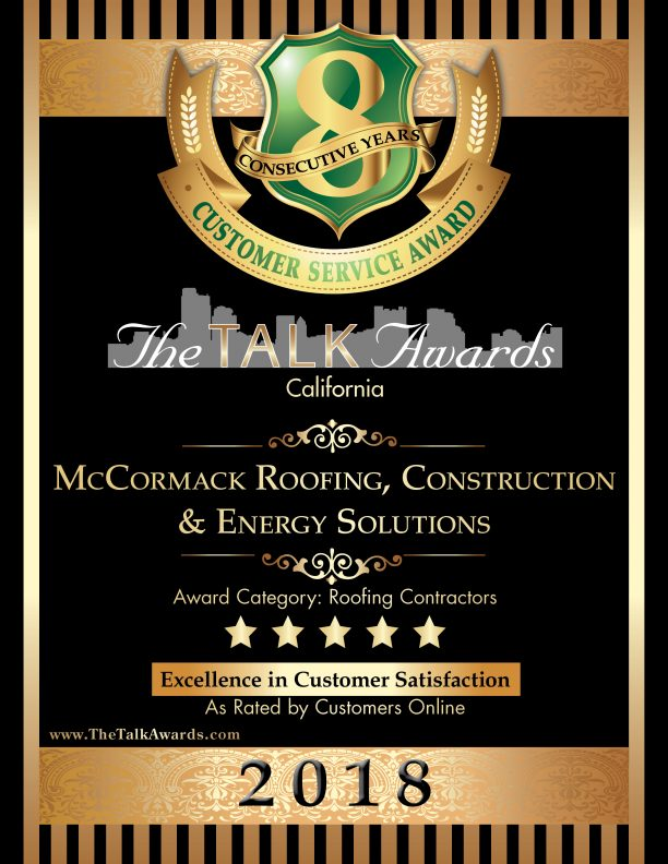 2018 Talk Award Winner, McCormack Roofing