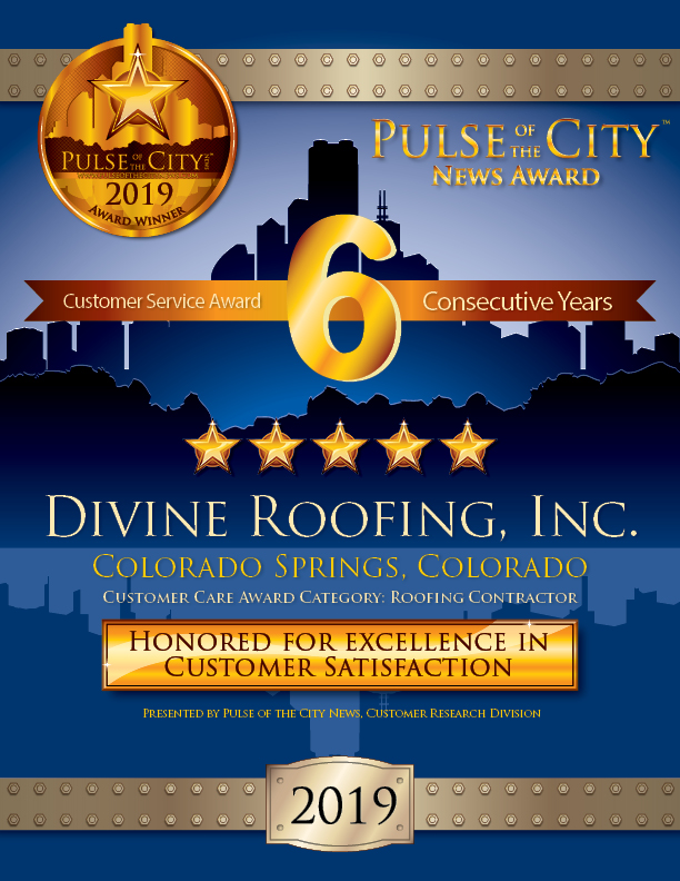 Pulse of the City News 2019 Award Winner, Divine Roofing