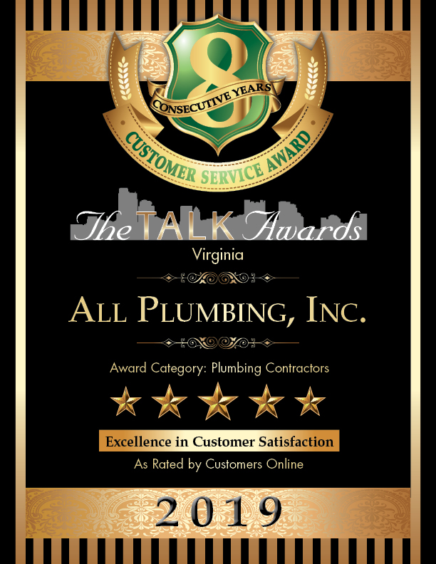 2019 TALK Awards Winner, All Plumbing