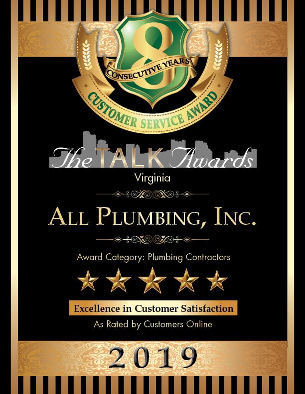 2019 TALK Awards Winner, All Plumbing