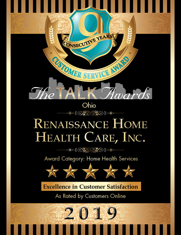 2019 Talk Awards Winner, Renaissance Home Health Care, Inc.
